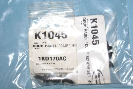 "1968 - 1977 C3 Corvette Door Panel ""Clip"" Screw Set, New, Box B"